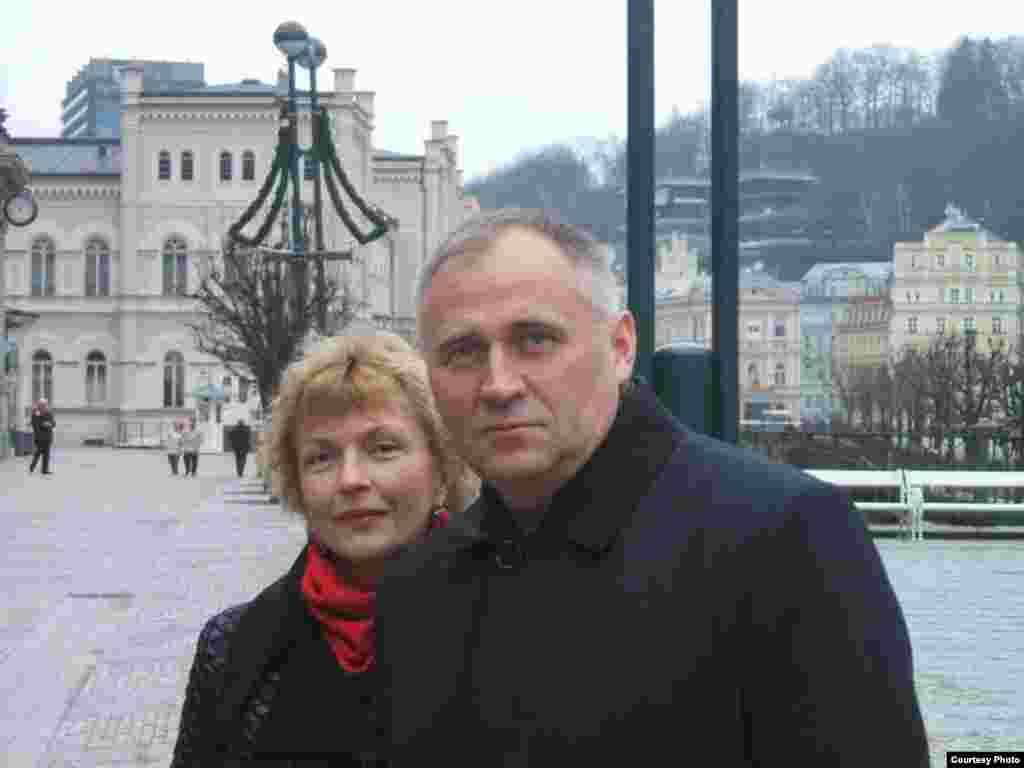 Марына Адамовіч і Мікалай Статкевіч