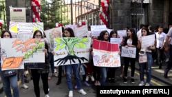 Студенческий протест в Ереване (Архив)