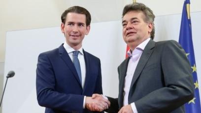 Lider Austrijske narodne partije Sebastijan Kurc i lider Zelenih Verner Kogler