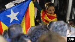 Акция в поддержку независимости Каталонии