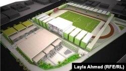 تصميم ملعب زوراء الرياضي في بغداد