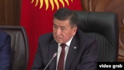 Премьер-министр КР Сооронбай Жээнбеков.