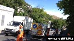 Ремонт спуска Котовского в Севастополе