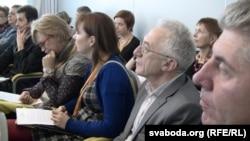 Удзельнікі беларускага праваабарончага форуму ў Вільні.