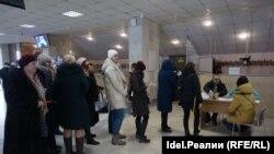 На избирательном участке в Казани
