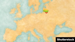 Europe map with Lithuania flag ©Shutterstock
