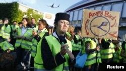 Профспілка авіакомпанії Lufthansa страйкує в аеропорту Франкфурта, серпень 2012 року