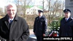 Министр иностранных дел Польши Витольд Ващиковский во время визита в Гродно