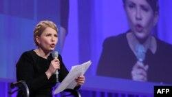 Украиналық саясаткер Юлия Тмошенко. Дублин, 6 наурыз 2014 жыл.