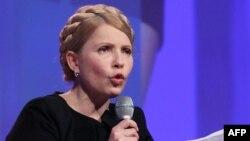 Украинаның бұрынғы премьер-министрі Юлия Тимошенко. Ирландия, Дублин, 6 наурыз 2014 жыл.