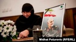 Upisivanje u knjigu žalosti u Ambasadi Islamske Republike Iran, Sarajevo