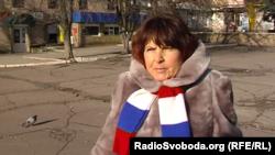 Жительница оккупированной Амвросиевки