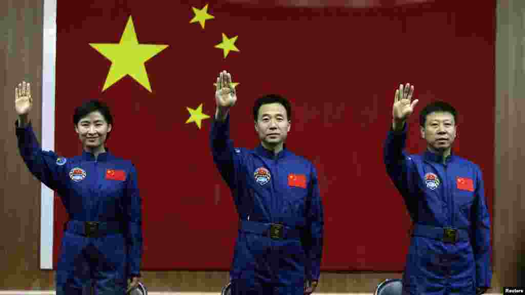 "Liu Wang and her male colleagues are expected to steer their ""Shenzhou 9"" spacecraft to dock for the first time with China's ""Tiangong (Heavenly Palace) 1"" module, launched in September 2011."