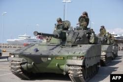 Переброска танков на остров Готланд, сентябрь 2016 года