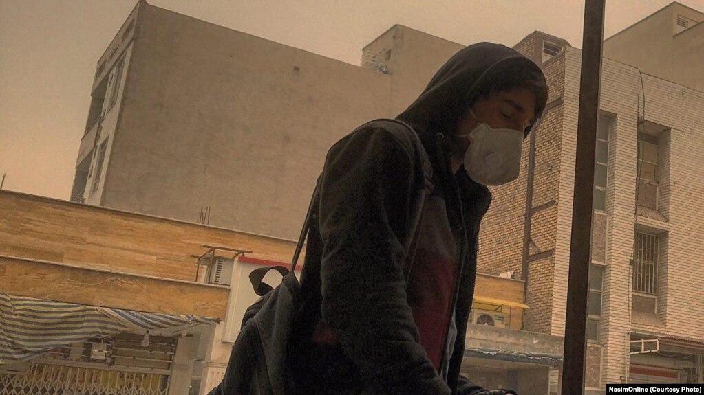 Iran -- Dust storm in Khuzestan province, Iran. Undated.