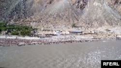 The Pyanj River between Tajikistan and Afghanistan