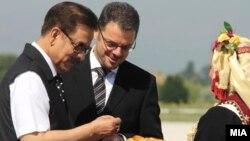 Индискиот милијардер Субрата Рој и вицепремиерот и министер за финансии Зоран Ставрески.