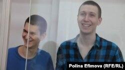 Yan Sidorov (left) and Vladislav Mordasov in court in Rostov-on-Don (file photo)