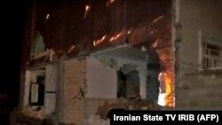Илустрација, куќа во Иран, Техеран погодена од земјотресот на 18 фебруари 2021 година