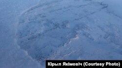 Кавалак маршруту Кірыла Якімовіча, зьняты ім з самалёту
