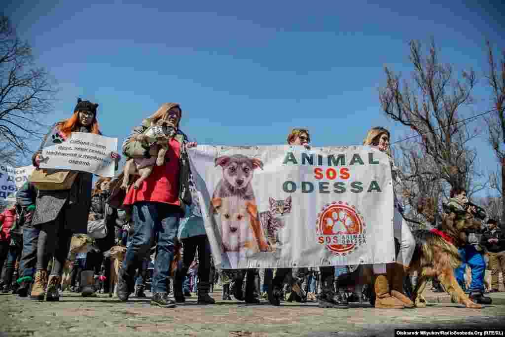 В заході взяли участь близько двох сотень людей, котрі небайдужі до долі тварин