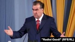 Tajikistan -- Emomali Rahmon, the President of Tajikistan, Dushanbe, 26Jun2012