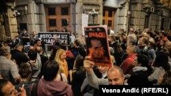 Protest podrške Vranjskim i Obradoviću u Beogradu