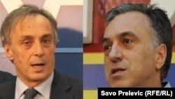 Президентські кандидати в Чорногорії – Міодраг Лекіч (ліворуч) і Філіп Вуянович