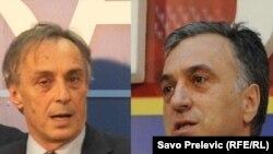 Кандидаты в президенты Черногории Миодраг Лекич и Филип Вуянович.