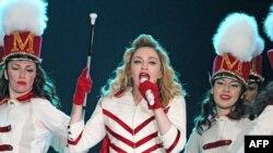 Madonna gjatë koncertit të saj në muajin gusht në Moskë