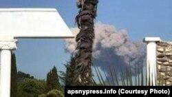 Выбух у Абхазіі