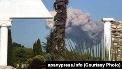 Взрыв на складе боеприпасов в Абхазии.