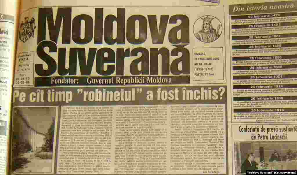 """""""Moldova Suverană"""", 26 februarie 2000"""