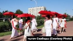 Марш жанчын з парасонамі 21 чэрвеня, Менск