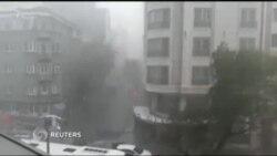 Кучли жала туфайли Истанбул кўчалари дарёга дўнди