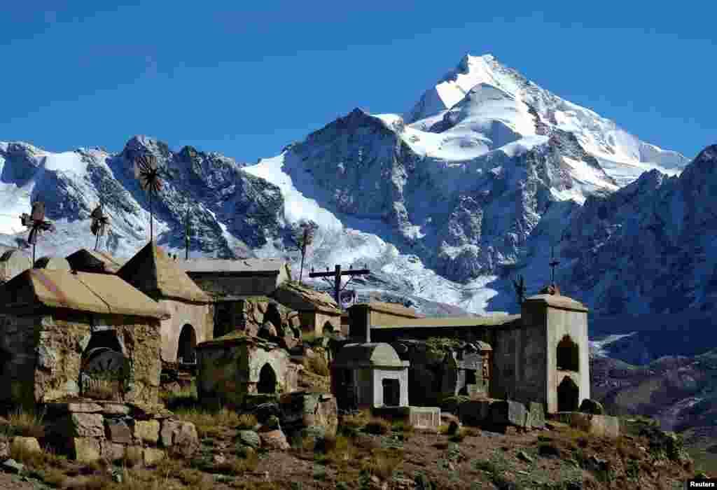 Уайна Потоси, одна из самых популярных для восхождений гор Боливии. Здесь и появилась команда альпинисток из женщин народа аймара.