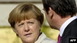 Германскиот канцелар Ангела Меркел и португалскиот премиер Педро Коељо, Лисабон 12.11.2012.