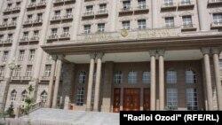 Здание МИД Таджикистана в городе Душанбе.