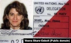 Посвідчення учасниці офіційної делегації Хорватії в ООН. 1993 рік