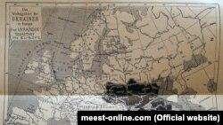 Крим на мапі «Українська територія у Європі», яка була розміщена в брошурі Степана Рудницького «The Ukraine & the Ukrainians» («Україна і українці»), виданій у 1915 році