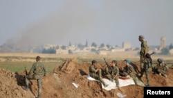 نیروهای «یگانهای مدافع خلق» در تل ابیض