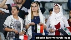 Tifozet siriane janë lejuar të marrin pjesë në ndeshjen Siri-Iran, që u zhvillua në stadiumin Azadi në Teheran më 5 shtator.