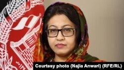 ناجیه انوری سخنگوی وزارت دولت در امور صلح افغانستان