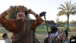 Мөәмәр Каддафи. Триполи, 10 апрель 2011 ел