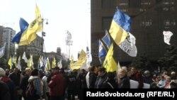 Акція біля Київради, 23 квітня