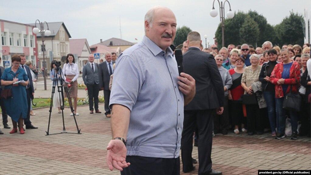 Александр Лукашенко в Ивье 21 августа