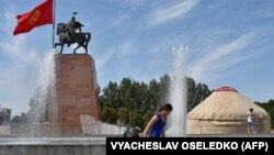 Бишкек шаары. Иллюстрациялык сүрөт.