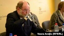 Majkl Lepsli na promociji knjige u Beogradu