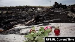 Уламки збитого літака рейсу MH17 біля Грабового в Донецькій області, липень 2014 року