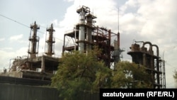 Armenia - Nairit chemical plant in Yerevan.